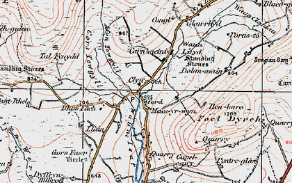 Old map of Ynysfawr in 1922