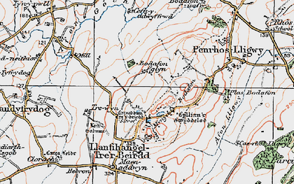 Old map of Afon Lligwy in 1922
