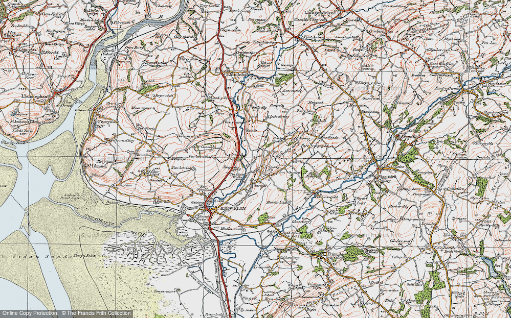 Old Map of Historic Map covering Allt-Cunedda in 1923