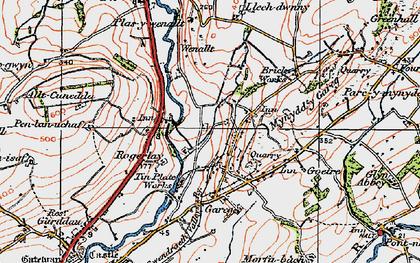 Old map of Allt-Cunedda in 1923