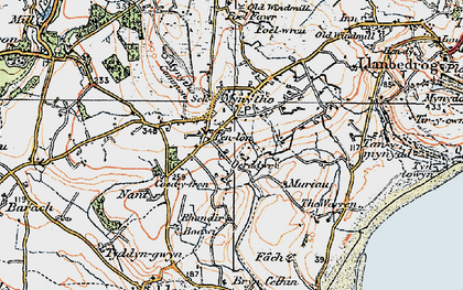 Old map of Mynytho in 1922