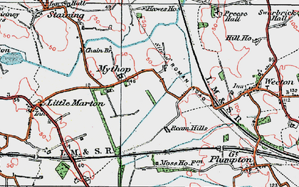 Old map of Todderstaffe Hall in 1924