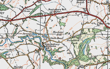 Old map of Woodfold Hall in 1924