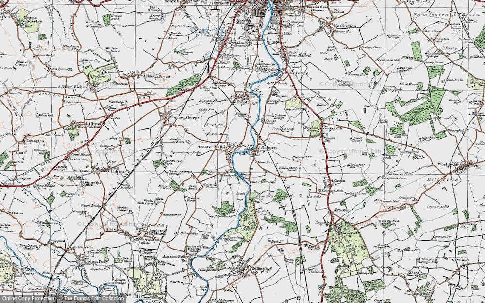 Old Map of Naburn, 1924 in 1924