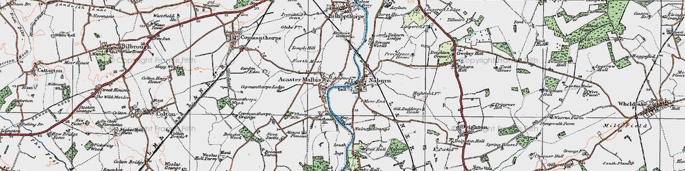 Old map of Naburn in 1924