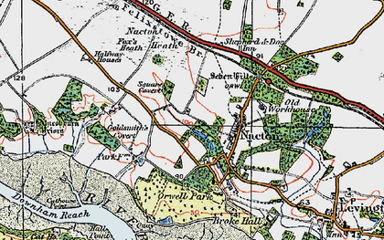 Old map of Amberfield in 1921