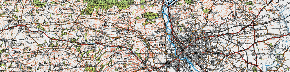 Old map of Alphin Brook in 1919