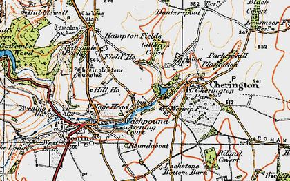 Old map of Westrip Farm Ho in 1919