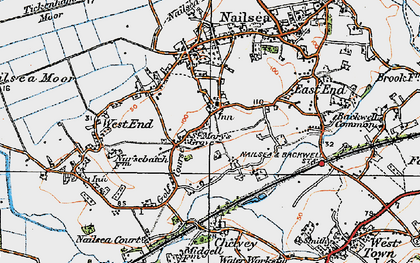 Old map of Nailsea in 1919