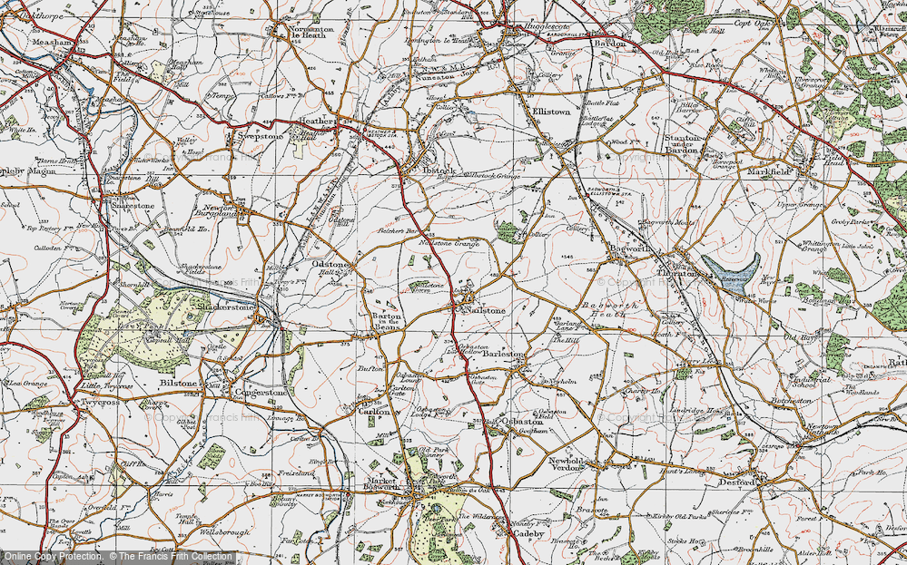 Old Map of Nailstone, 1921 in 1921