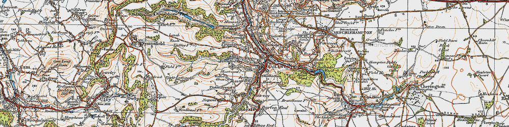Old map of Nailsworth in 1919