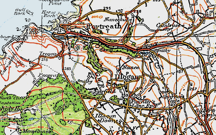 Old map of Nance in 1919