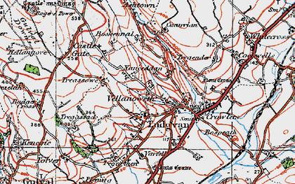 Old map of Nanceddan in 1919