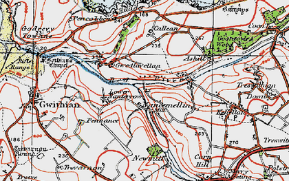 Old map of Nancemellin in 1919