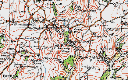 Old map of Nancenoy in 1919
