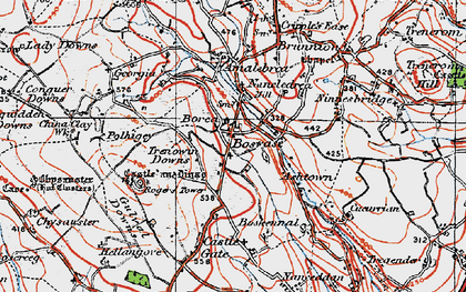 Old map of Nancledra in 1919