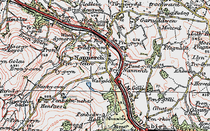 Old map of Nannerch in 1924