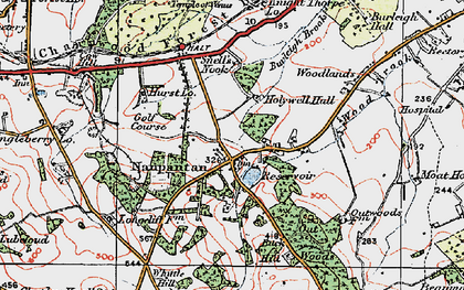 Old map of Wood Brook in 1921