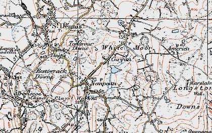 Old map of Nanpean in 1919