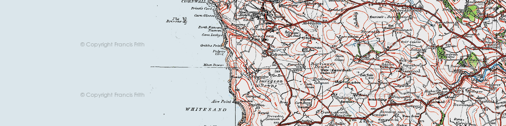 Old map of Aire Point in 1919