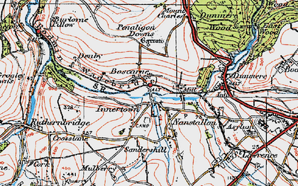 Old map of Nanstallon in 1919