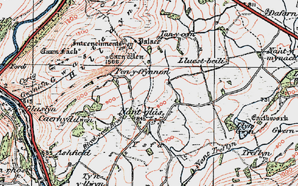 Old map of Yr Hysfa in 1923