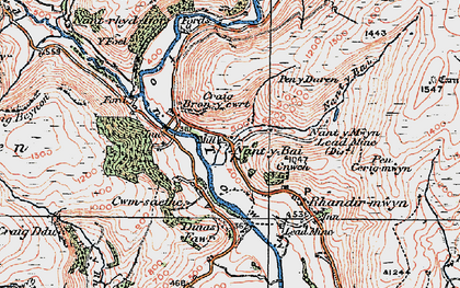 Old map of Ystradffin in 1923