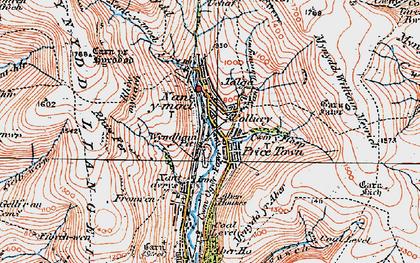 Old map of Nant-y-moel in 1922