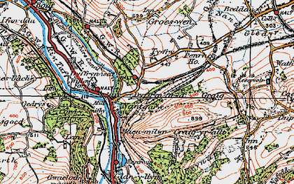 Old map of Nantgarw in 1919