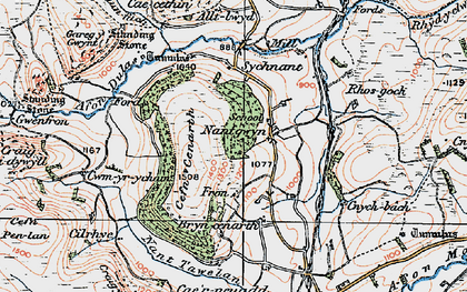Old map of Alltlwyd in 1922