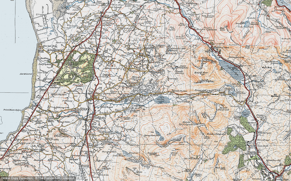 Old Map of Nantlle, 1922 in 1922