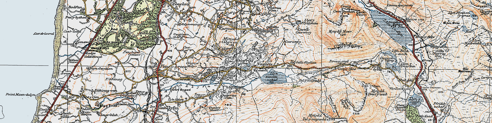 Old map of Nantlle in 1922