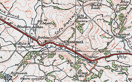 Old map of Yr Onnen in 1922
