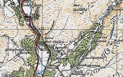Old map of Yr Arddu in 1922