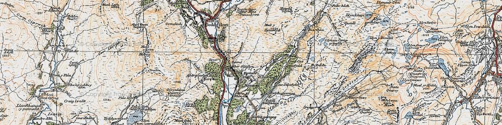Old map of Nantmor in 1922
