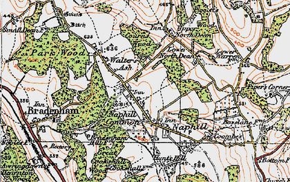 Old map of Naphill in 1919