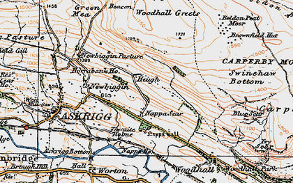Old map of Whirley Gill in 1925