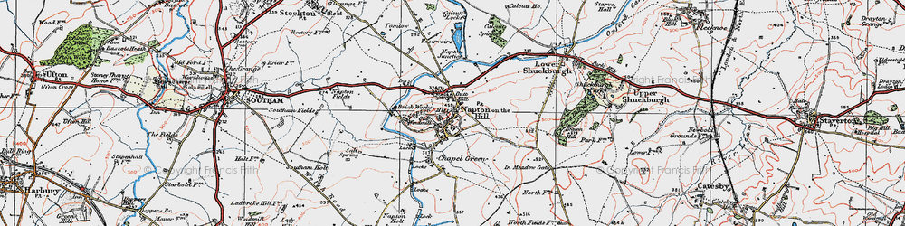 Old map of Napton on the Hill in 1919