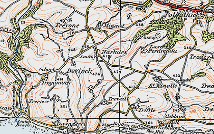 Old map of Narkurs in 1919