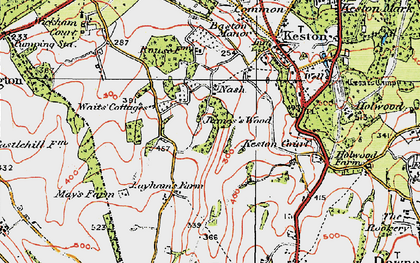 Old map of Nash in 1920