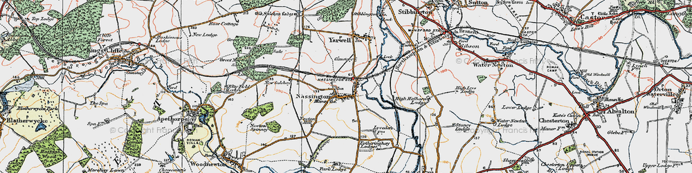 Old map of Nassington in 1922
