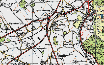 Old map of Nast Hyde in 1920