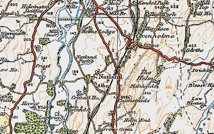 Old map of Natland in 1925