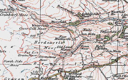 Old map of Ashfold Side Beck in 1925