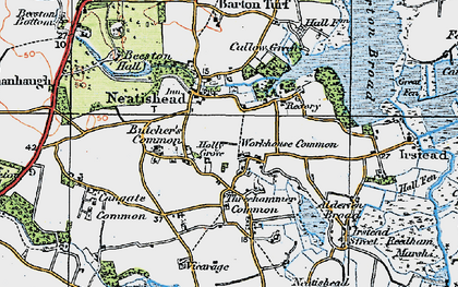 Old map of Neatishead in 1922