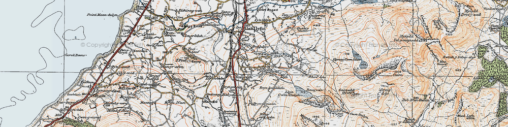 Old map of Nebo in 1922