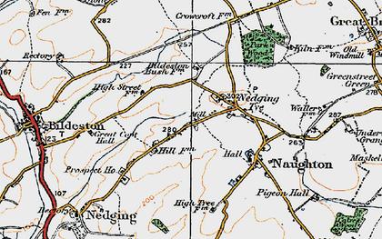 Old map of Nedging Tye in 1921