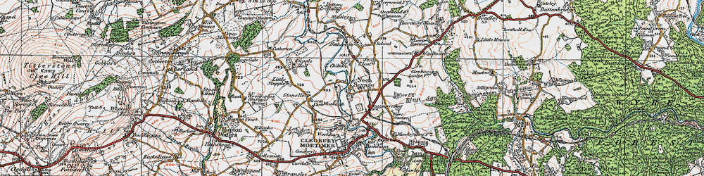 Old map of Wyre Common in 1921
