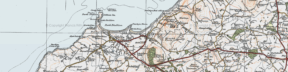 Old map of Tir Bach in 1922