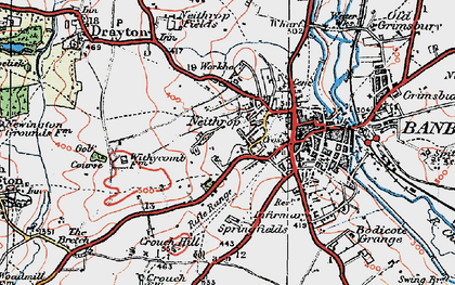 Old map of Withycombe Farm Ho in 1919